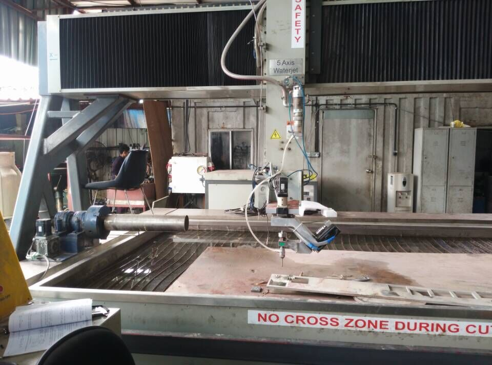 AC type five axis Waterjet Machine